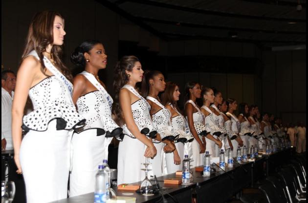 Candidatas al Concurso Nacional de Belleza