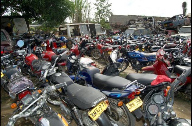 Alrededor de 6 mil vehículos han sido abandonados en los patios del Datt. El 97% de estos son motos.