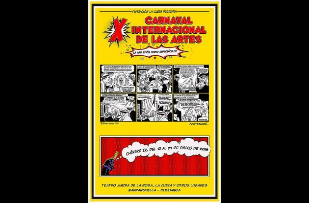 Afiche del Carnaval de las Artes.
