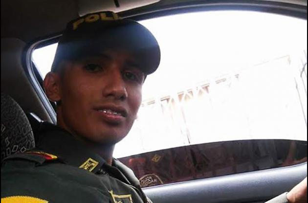 El auxiliar de la Policía Brayan Steven Ocampo