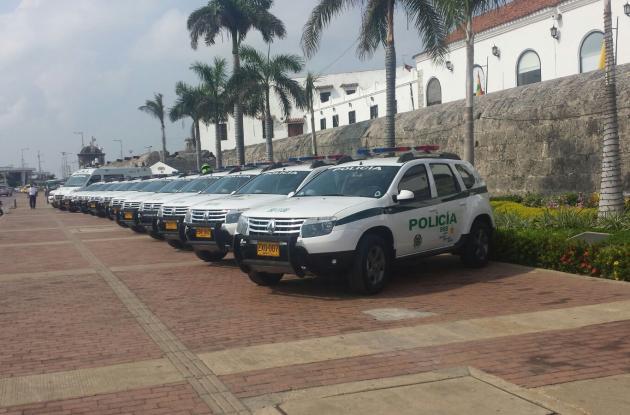 Los nuevos vehículos de la Policía Metropolitana.
