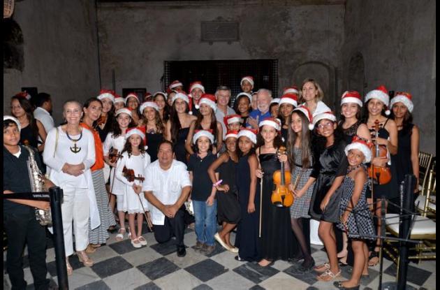 El coro infantil de la Fundación Tocando Puertas.