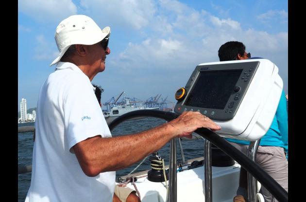 Lucho Mogollón es un referente del deporte de vela en Cartagena.//Fotos: Pedro Luis Mogollón.