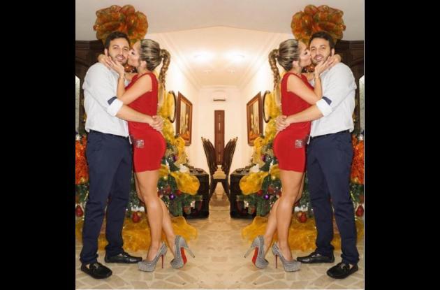 La actriz Kimberly Reyes y su novio.NAVIDAD