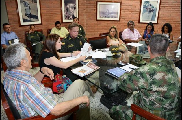 Consejo Ampliado de Seguridad presidido por el Gobierno Departamental.