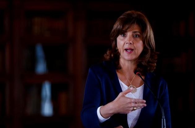 La ministra de Relaciones Exteriores, María Ángela Holguín