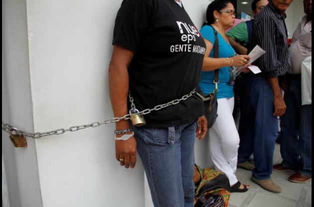 Los usuarios del sistema de salud colombiano han recurrido a diferentes acciones para llamar la atención de las autoridades cuando sientes vulnerado su derecho.