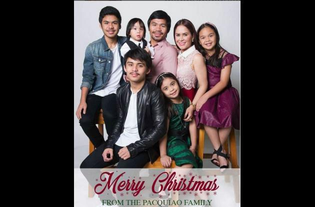 La familia del boxeador Manny Pacquiao.NAVIDAD