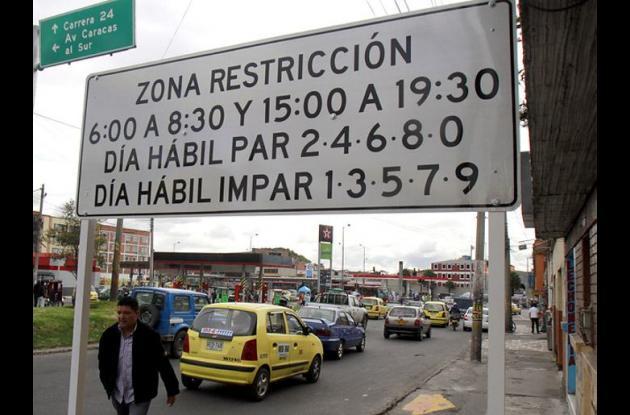 Bogotá sin pico y placa durante la temporada de fin de año