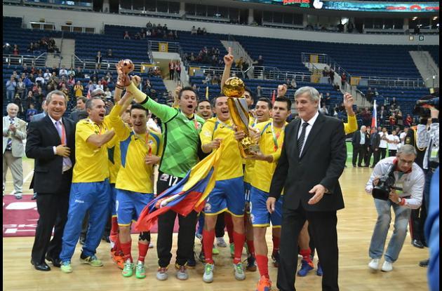 La Selección Colombia de Fútbol de Salón se coronó campeona Mundial en Bielorrusia.