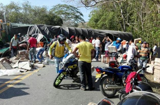 Accidente de tránsito en la Troncal de Occidente