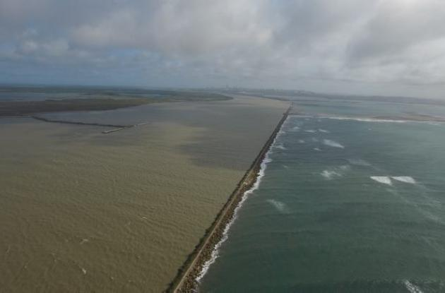 Bocas de Ceniza, desembocadura del río Magdalena en Barranquilla.