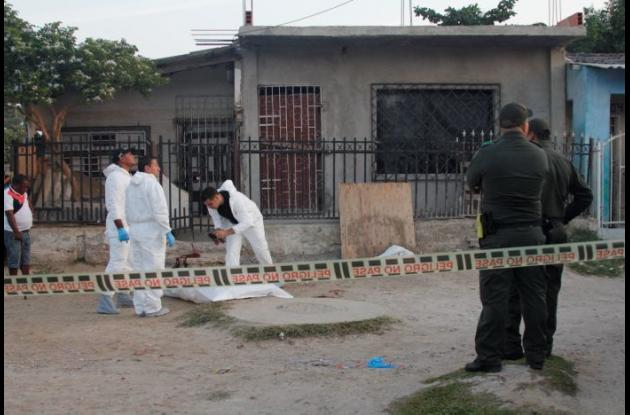 El crimen de Dalmiro Maldonado ocurrió ayer, a las 5 de la madrugada, en la calle Urdaneta Arbeláez del barrio La Candelaria.