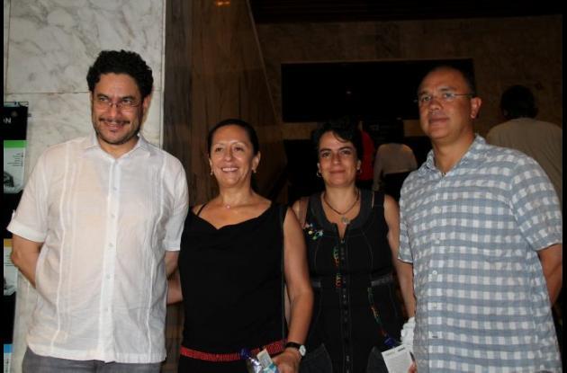 Iván Cepeda, Pilar Rueda, María Cepeda y David García.