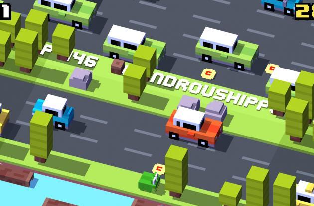 Crossy Road es un adictivo juego para móviles. Hay un personaje desbloqueable que rinde tributo a Frogger.