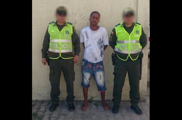 Alias 'el Monín' fue capturado en la calle 6 de Fredonia, por el crimen de Dalmiro Maldonado.