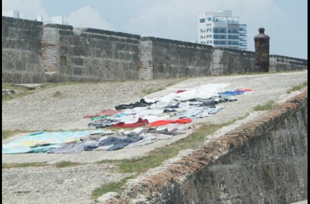 Uso de las murallas en Cartagena