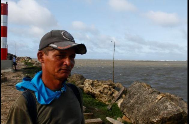 Jacob Flórez, pescador en Bocas de Ceniza.