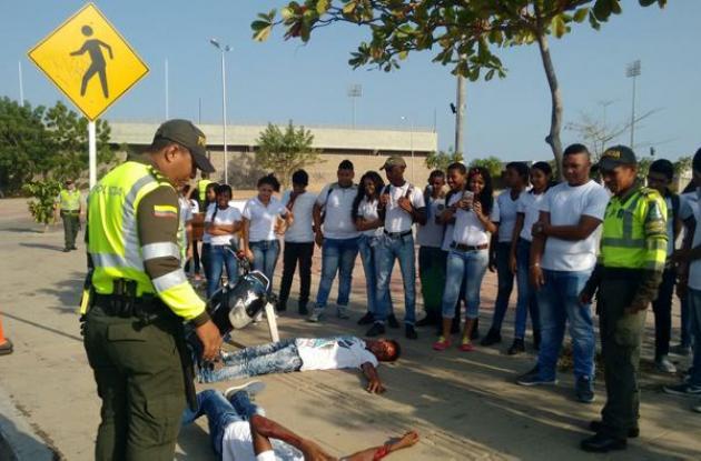 Campaña para prevenir accidentes