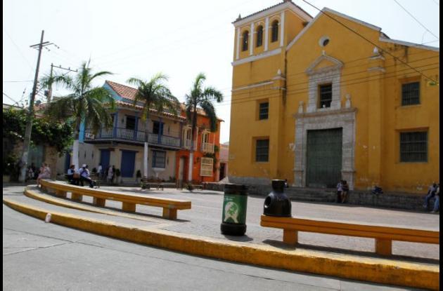 Plaza de La Trinidad, en Getsemaní.