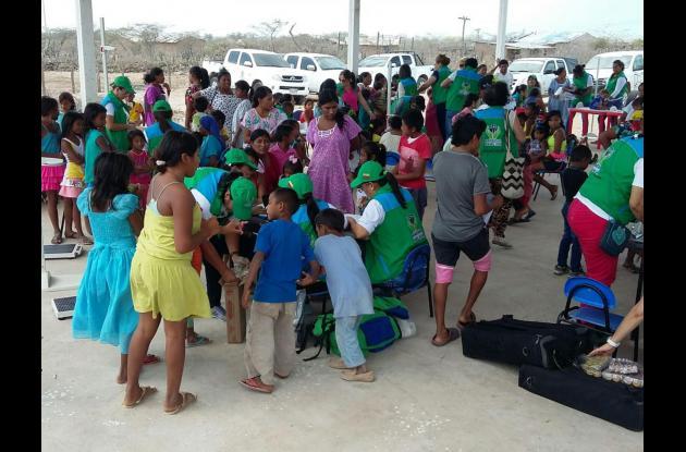 Esta es una de las jornadas que adelanta el ICBF en La Guajira.