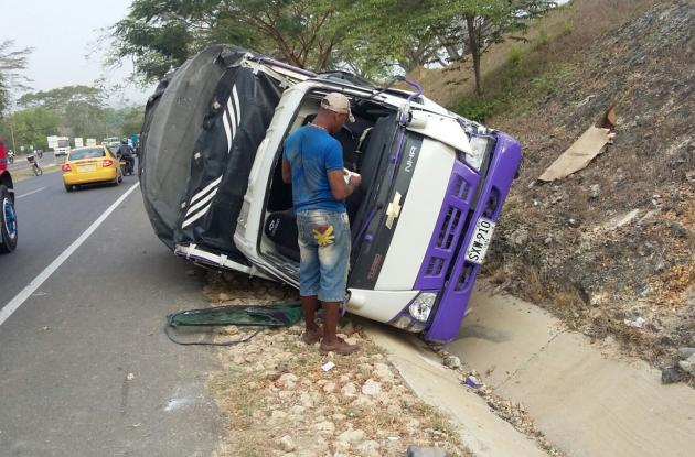 Accidente en la carretera Troncal de Occidente.