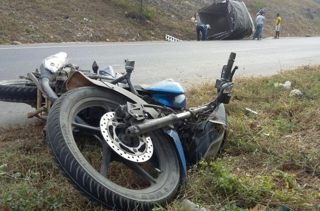 Accidente en la carretera Troncal de Occidente.