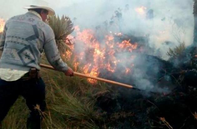 Incendio en Ituango