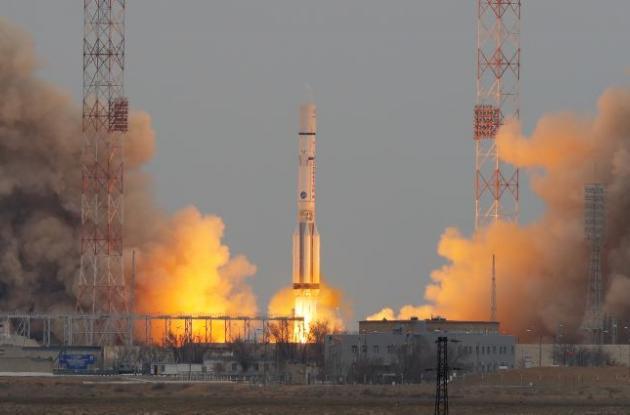 Lanzamiento del cohete Protón de la misión ruso-europea ExoMars 2016.