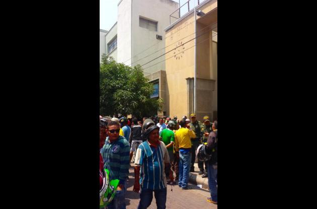 Protestas de mototaxistas en Barranquilla.