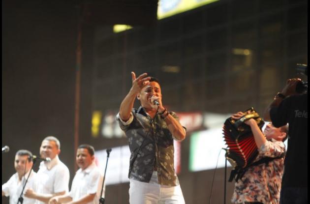 Jorge Celedón durante el Festival Vallenato.