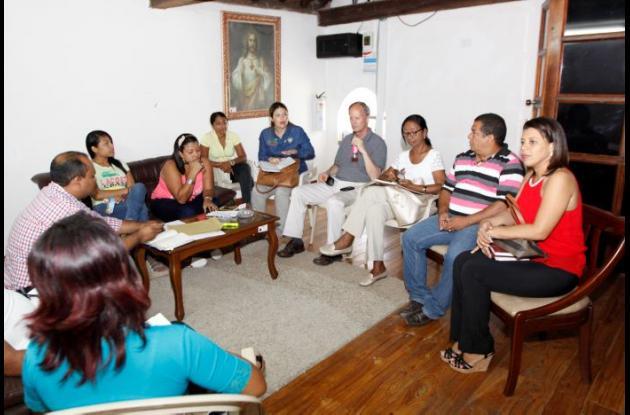 La reunión con el presidente de Fides, Alejandro Escallón, se realizó en la Alcaldía de Turbaco.