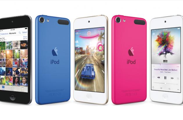 La sexta generación de iPod Touch viene en variados y metalizados colores.