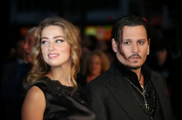 Amber Heard y Johnny Depp.