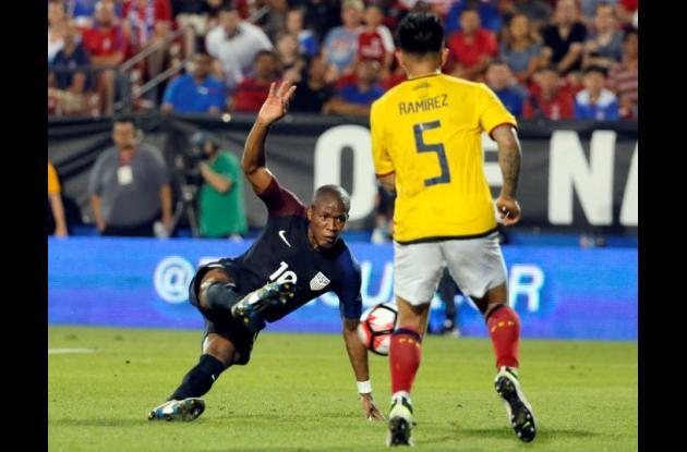 Partido amistoso entre Ecuador y Estados Unidos.