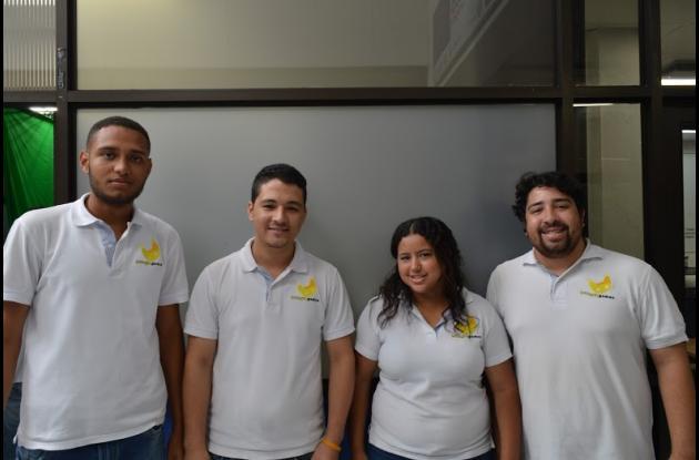 Integrantes del grupo Biinyu Games organizadores del torneo en Cartagena.