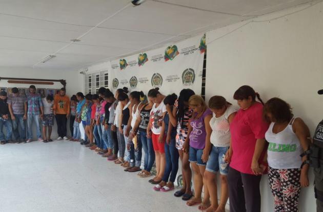 Aseguran a 26 presuntos extorsionistas capturados por el Gaula en Cartagena y otras ciudades.