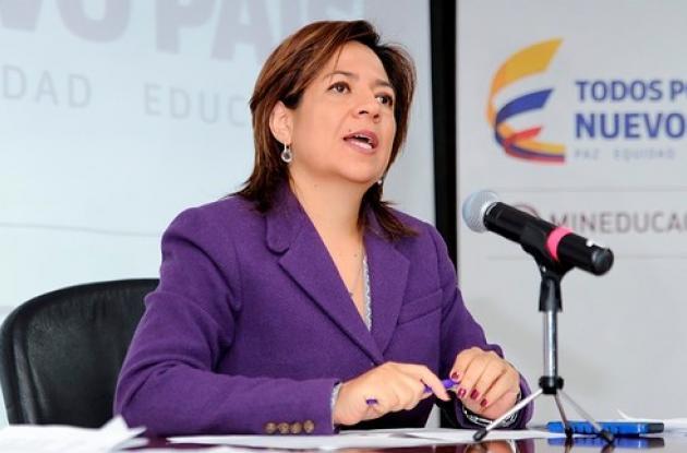 viceministra de Educación Superior, Natalia Ariza,