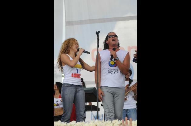 Shakira y Carlos Vives.