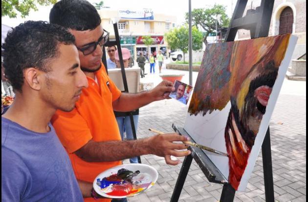 """""""El Chico"""" como cariñosamente lo conocen fue plasmado en la pintura con la técnica acrílico sobre lienzo."""