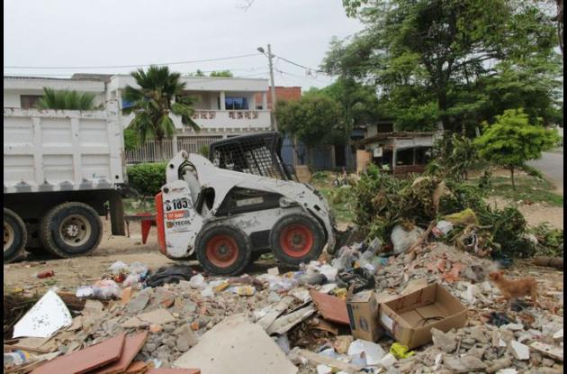 Se recolectaron 40 toneladas de basuras durante el rescate de los puntos de arrojo clandestinos.