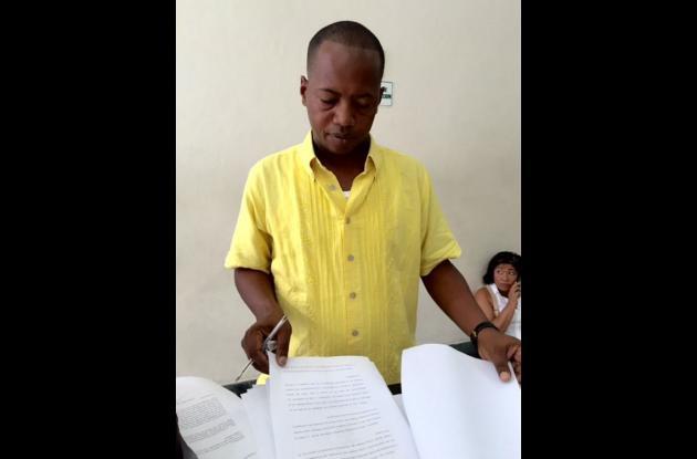 Wilman Herrera Imitola, abogado de la comunidad de Pasacaballo.
