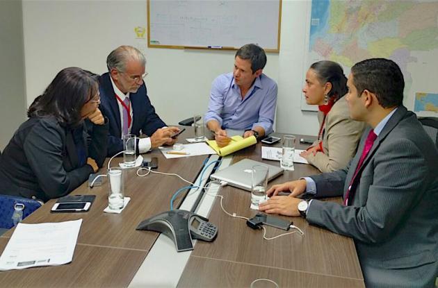 Reunión del gobernador del Atlántico, Eduardo Verano De la Rosa, con el director del Fondo Adaptación, Iván Mustafá Durán