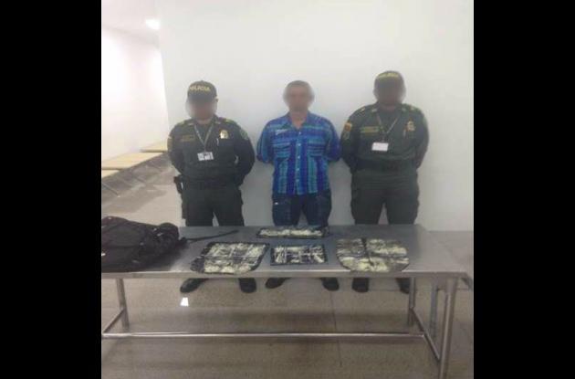 Capturado con más de un kilo de cocaína en el aeropuerto Rafael Núñez de Cartagena.