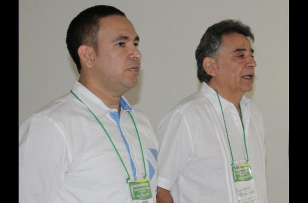Juan David Díaz Chamorro, Asesor de Paz y Postconflicto de Sucre acompañado por Édgar Martínez Romero, el Gobernador de Sucre.
