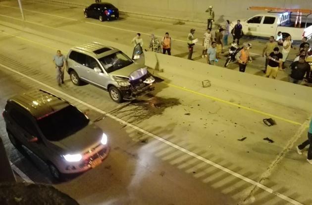 El choque se registró en sentido Boquilla- avenida Santander.