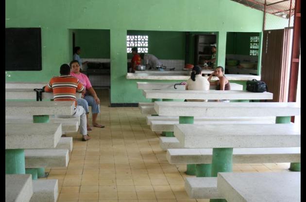 Los comedores escolares no están funcionando de manera temporal.