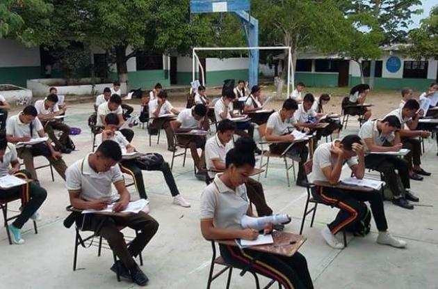 Los estudiantes durante su último entrenamiento.