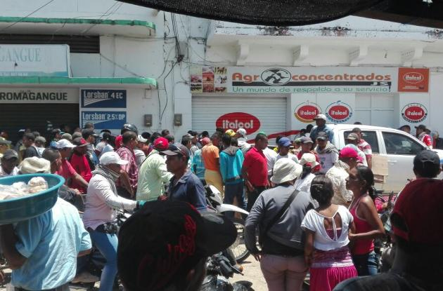 Almacén en la calle La Albarrada de Magangué donde mataron a Miguel Segundo Maza Álvarez, hijo del general Migue Maza Márquez.