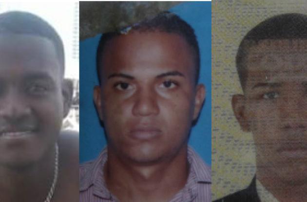 Hendri Pérez, John Acevedo y Juan José Cuesta, tres de las víctimas por intolerancia.